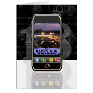 mobile phone text message Happy Birthday cellphone Greeting Card
