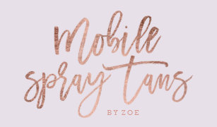 Spray tan business cards profile cards zazzle ca mobile spray tans logo rose gold typography lilac business card colourmoves