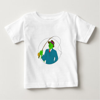 Mobster Fisherman Fly Rod Reel Grime Art Baby T-Shirt
