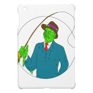 Mobster Fisherman Fly Rod Reel Grime Art iPad Mini Covers