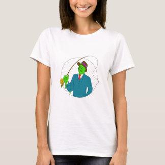 Mobster Fisherman Fly Rod Reel Grime Art T-Shirt