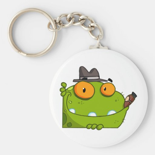 Mobster Frog Cartoon Character Keychain