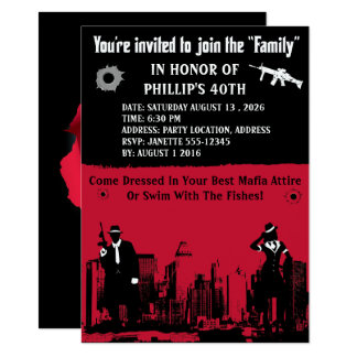 Mobster Party Invitations