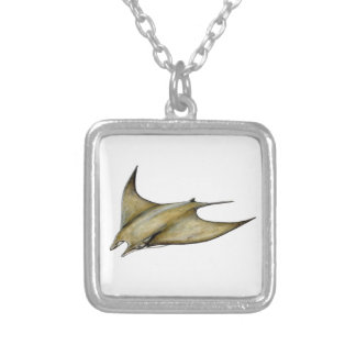 Mobula tarapacana- Weak Blanket blanket ray Silver Plated Necklace