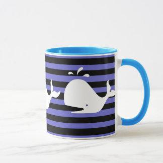 moby dick -ish whale mug