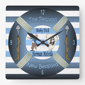 Moby-Dick ~ The Pequod ~Herman Melville ~Capt Ahab Clock