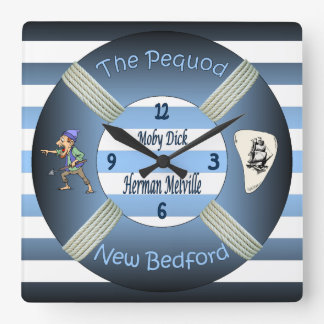 Moby-Dick ~ The Pequod ~Herman Melville ~Lifesaver Square Wall Clock
