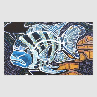 Moby the Cichlid Sticker