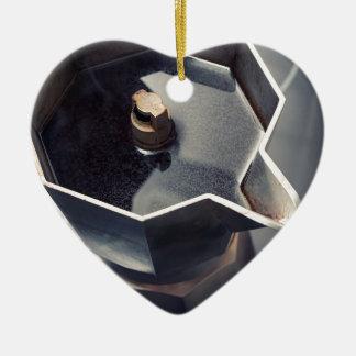 Moca coffee ceramic ornament