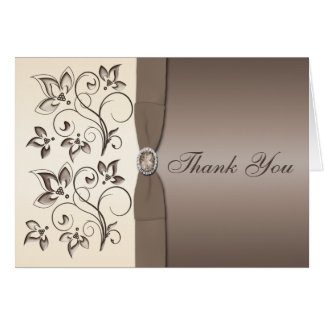 Mocha and Ivory Thank You Card