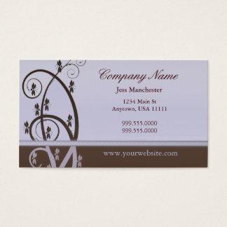 Mocha and Lilac Vine Business Card