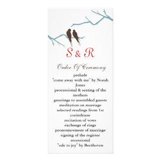 mocha lovebirds Wedding program