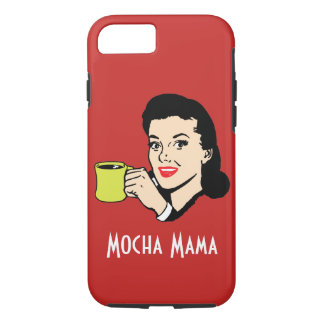 Mocha Mama Vintage Red Case-Mate iPhone Case