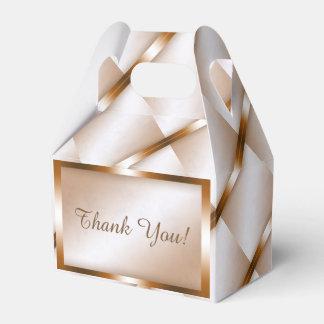 Mocha Marble Gable Favor Box