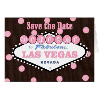 Mocha Pink Las Vegas Save the Date Card