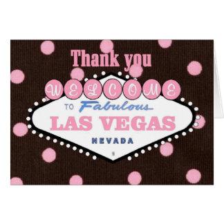 Mocha Pink Thank you Las Vegas Card