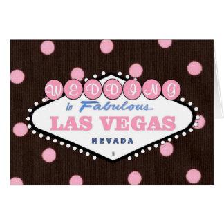 Mocha Pink WEDDING in Fabulous Las Vegas Card