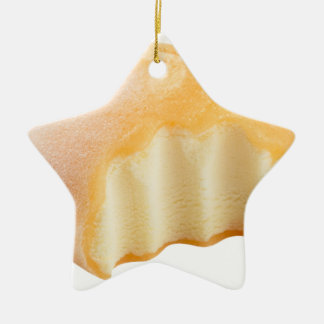 mochi ice cream ceramic star ornament