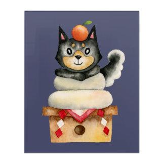 """Mochi Shiba"" Dog Watercolor Illustration Acrylic Print"
