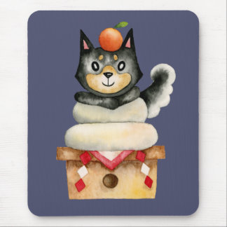 """Mochi Shiba"" Dog Watercolor Illustration Mouse Pad"