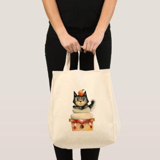 """Mochi Shiba"" Dog Watercolor Illustration Tote Bag"