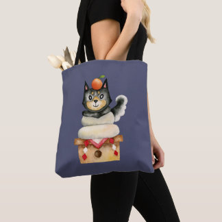 """Mochi Shiba"" Dog Watercolor Illustration Tote Bag"
