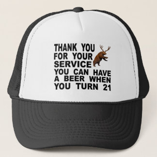 Mocking The 21 Drinking Age Trucker Hat