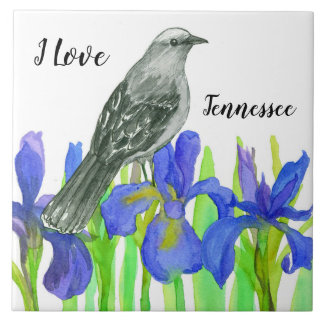 Mockingbird Iris I Love Tennessee Tile