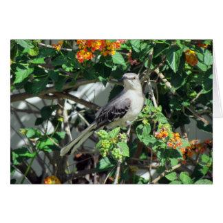 Mockingbird on Lantana Card