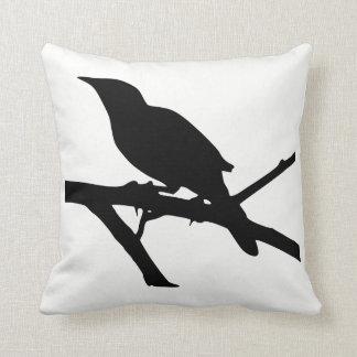Mockingbird Silhouette Throw Pillow