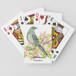 Mockingbird State Bird of Arkansas Playing Cards