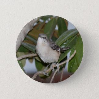 Mockingbutton - Northern Mockingbird on Magnolia 2 Inch Round Button