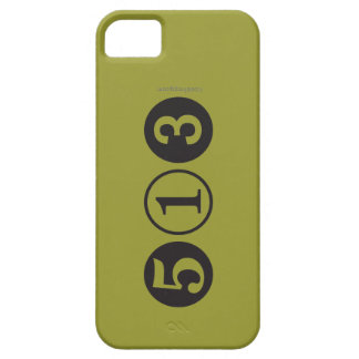Mod 513 Area Code iPhone 5 Case (Mustard)