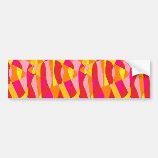 Mod Abstract Bumper Sticker