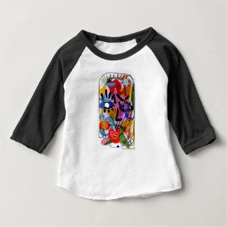 Mod Abstract  Face Digital Drawing Baby T-Shirt