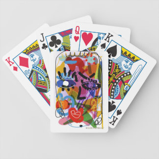 Mod Abstract  Face Digital Drawing Bicycle Playing Cards