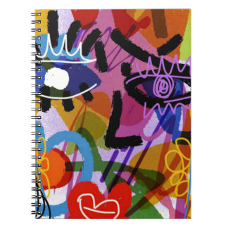 Mod Abstract  Face Digital Drawing Notebook