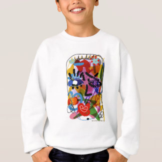 Mod Abstract  Face Digital Drawing Sweatshirt