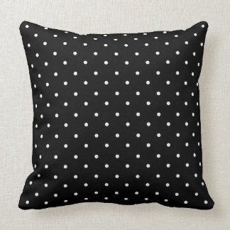 """""""Mod Accent""""  Revised-Black_White Polka Dots_Large Throw Pillow"""