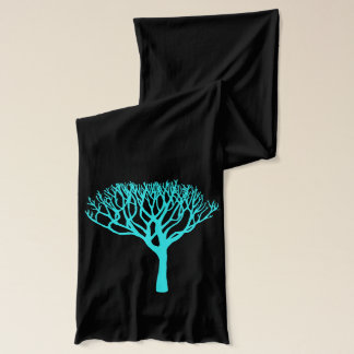 Mod Aqua Tree Silhouette Scarf