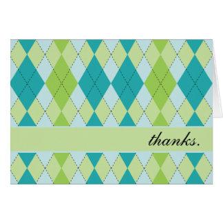 Mod Argyle Thank You Cards