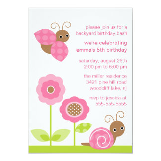 Mod Baby Bugs Birthday Invitation