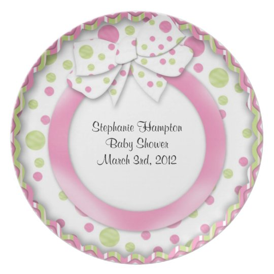 Mod Baby Signature Plate Girl Pink