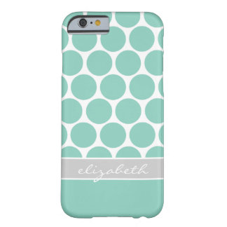 Mod Big Dots Custom Monogram Barely There iPhone 6 Case