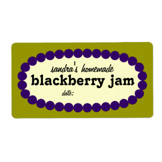 Mod Blackberry Jam Home Canning Jar Label Shipping Label
