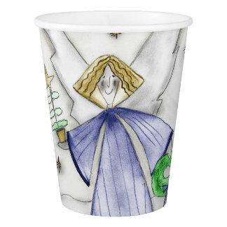 Mod Blue Angel Paper Cup