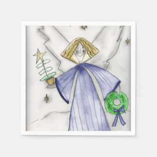 Mod Blue Angel Paper Napkins