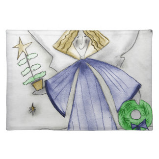 Mod Blue Angel Placemat