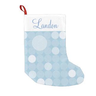 Mod Blue Polka Dot Christmas Small Christmas Stocking