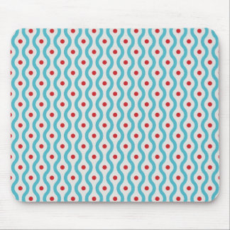 Mod blue & red circles graphic design case skin mouse pad